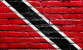 Trinidad and Tobago Flag painted on brick wall — Stock Photo