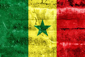 Senegal Flag painted on grunge wall — Foto Stock