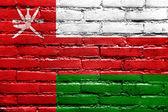 Oman Flag painted on brick wall — Stock Photo