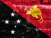 Papua New Guinea Flag painted on grunge wall — Stock Photo