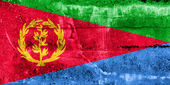 Eritrea Flag painted on grunge wall — Stock Photo
