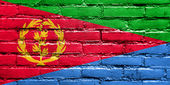 Eritrea Flag painted on brick wall — Stock Photo