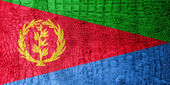Eritrea Flag painted on luxury crocodile texture — Stock Photo