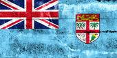 Fiji Flag painted on grunge wall — ストック写真