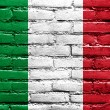 Italy Flag painted on brick wall — Stock Photo #41386547