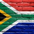 South Africa Flag painted on brick wall — Stock Photo