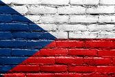Czech Republic Flag painted on brick wall — Foto Stock