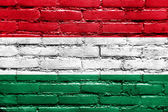 Hungary Flag painted on brick wall — Foto Stock