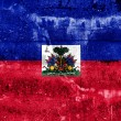 Haiti Flag painted on grunge wall — Stock Photo #41671503