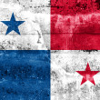 Panama Flag painted on grunge wall — Stock Photo
