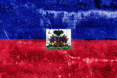 Haiti Flag painted on grunge wall — ストック写真