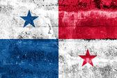 Bandeira do panamá pintada na parede do grunge — Fotografia Stock