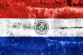 Paraguay Flag painted on grunge wall — ストック写真