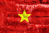 Vietnam Flag painted on grunge wall — ストック写真