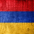 Stock Photo: ArmeniFlag painted on luxury crocodile texture