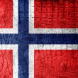 Stock Photo: Norway Flag painted on luxury crocodile texture