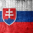 Stock Photo: SlovakiFlag painted on luxury crocodile texture