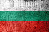 Bulgaria Flag painted on luxury crocodile texture — Stock Photo