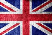 UK Flag painted on luxury crocodile texture — Stock Photo