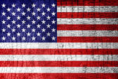 USA Flag painted on luxury crocodile texture — Stock Photo