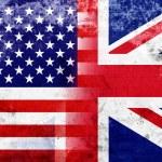 Grunge USA and UK Flag — Stock Photo