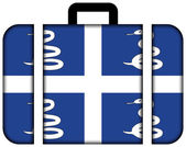 Suitcase with Martinique Flag — Stock Photo