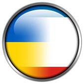 Autónoma república da crimeia e ucrânia brilhante botão sinalizador — Foto Stock