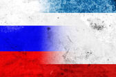 Grunge Autonomous Republic of Crimea and Russia Flag — Stock Photo