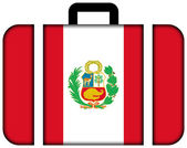 Suitcase with Peru Flag — Stock Photo