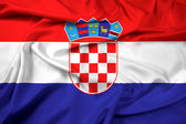 Waving Croatia Flag — Stock Photo