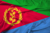 Waving Eritrea Flag — Stock Photo
