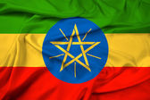 Waving Ethiopia Flag — Stock Photo
