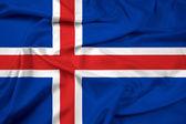 Waving Iceland Flag — Stock Photo