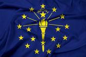 Waving Indiana State Flag — Stock Photo