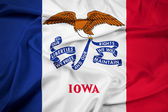Waving Iowa State Flag — Stock Photo