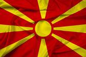 Waving Macedonia Flag — Stock Photo