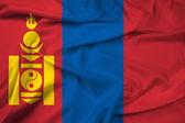 Waving Mongolia Flag — Stock Photo