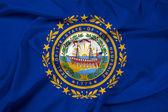 Waving New Hampshire State Flag — Stock Photo