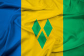 Waving Saint Vincent and The Grenadines Flag — Photo