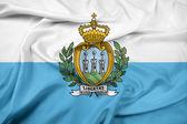 Waving San Marino Flag — Stock Photo