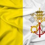 Waving Vatican City Flag — Stock Photo