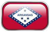 Arkansas State Flag rectangle glossy button — Stock Photo
