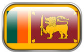 Sri Lanka Flag rectangle glossy button — Foto Stock