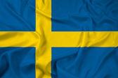 Waving Sweden Flag — Stock Photo