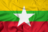 Waving Burma Flag — Stock Photo