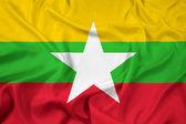 Waving Burma Flag — Stock Photo