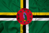 Waving Dominica Flag — Stock Photo