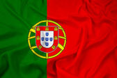 Waving Portugal Flag — Stock Photo