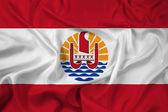 Waving French Polynesia Flag — Stock Photo