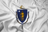 Waving Massachusetts State Flag — Foto de Stock